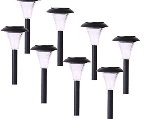 8-pack Solar Path Lights for Path, Patio, Deck, Driveway and