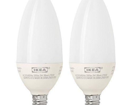 Ikea E12 Led Light Bulb 2 Pack 200 Lumen 3 Watt Candle