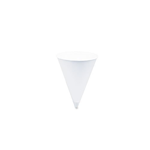 Solo Bare 4 Oz Recyclable Paper Cone Water Cup Rolled